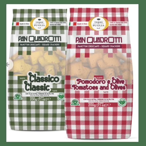 Panquadrotti crackers
